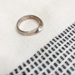 Nothing is impossible silver twist ring